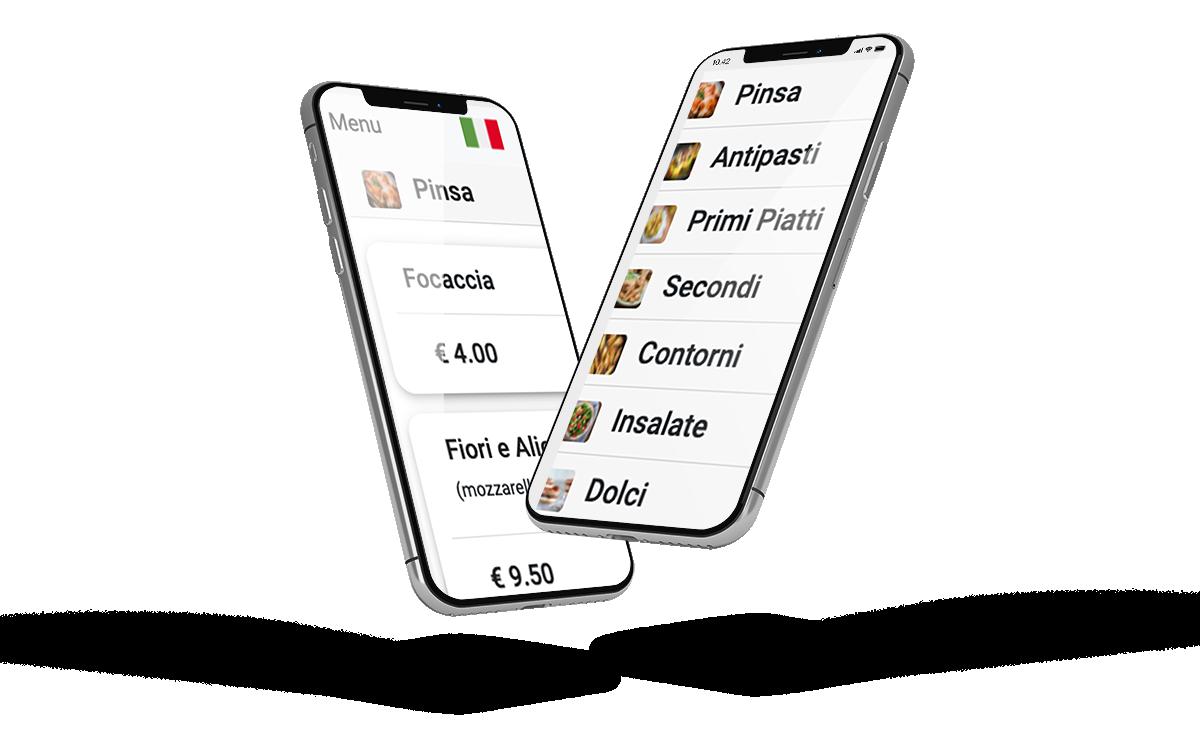 menu digitale ristorante smartphone